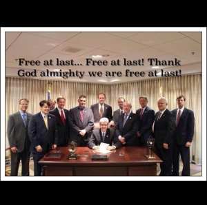 Mississippi Governor Phil Bryant Signing Religious Hate Anti-LGBT Bill into Law
